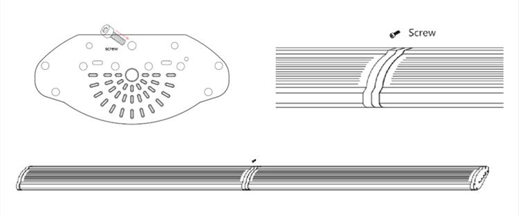 led linear high bay installation -Connect in a line