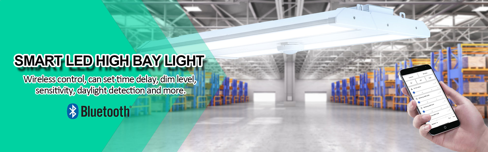 Industrial led high bay with smart bluetooth coltrol