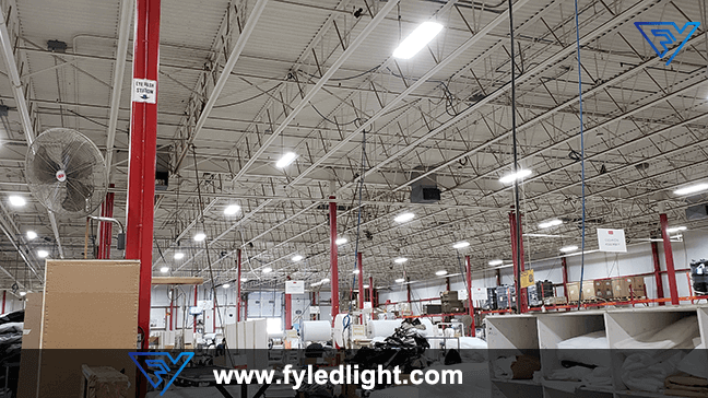What led lamps are used in the factory?