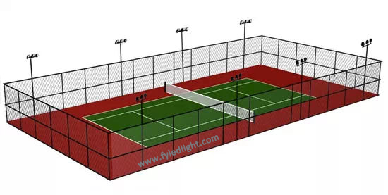 outdoor standard led tennis court lights